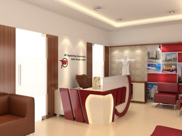 Modern office reception area by SDG India Modern   Interior Design Photos & Ideas