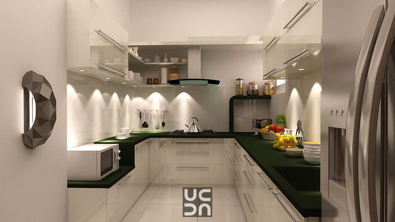 A modern U shaped kitchen by Interior Elements Modular-kitchen | Interior Design Photos & Ideas