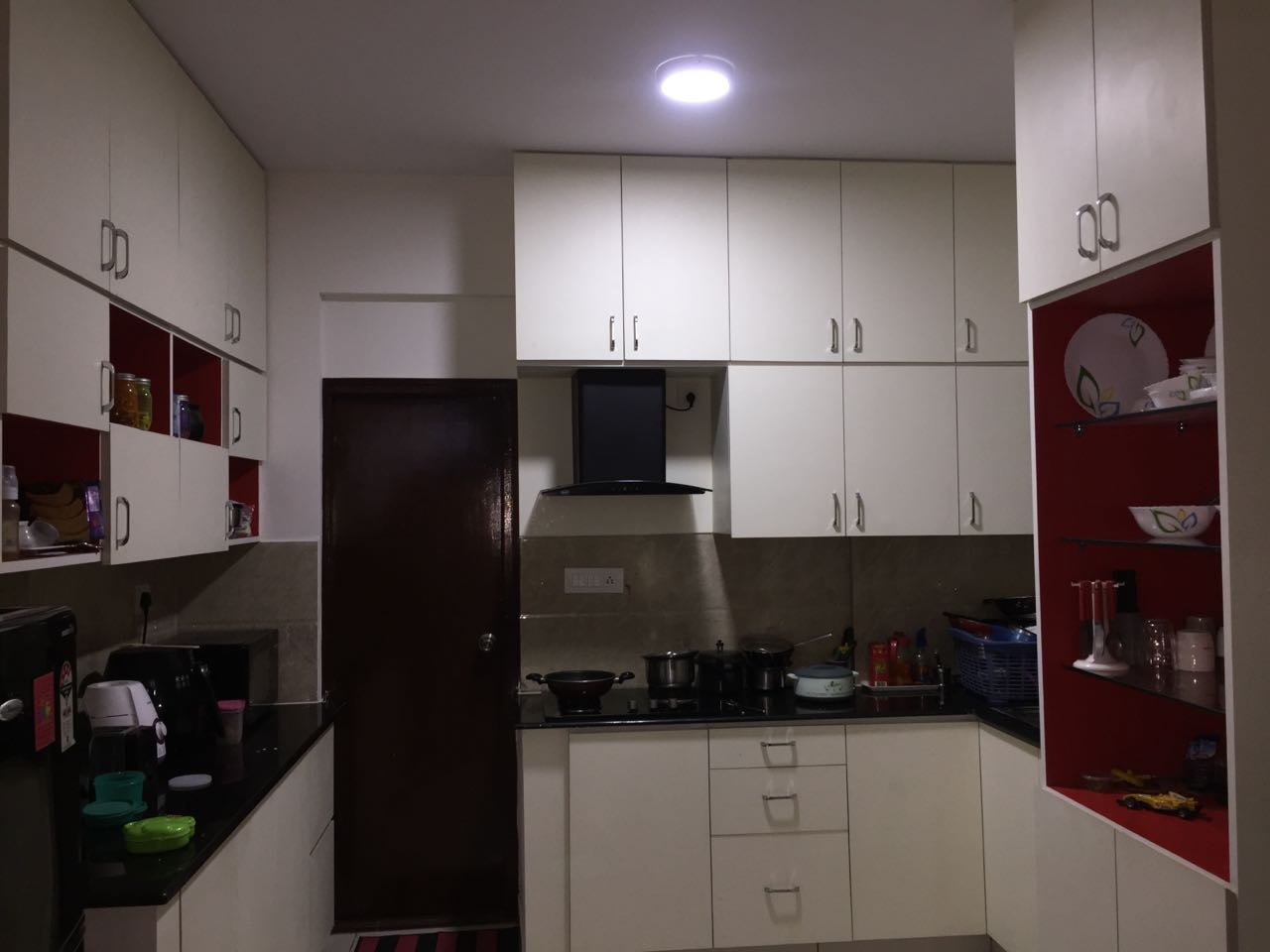 A standard U shaped modular kitchen by Interior Elements Modular-kitchen | Interior Design Photos & Ideas