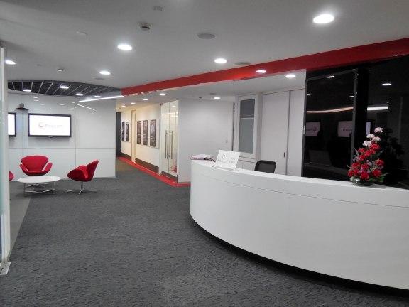 Modern office reception decor by Ar. ankur siddhu Modern | Interior Design Photos & Ideas