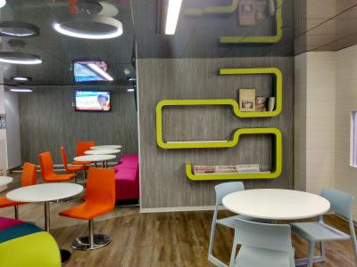 Contemporary cafe decor by Ar. ankur siddhu Contemporary   Interior Design Photos & Ideas