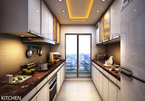 A modern kitchen with great view! by R S Architects Architectural lifestyle services