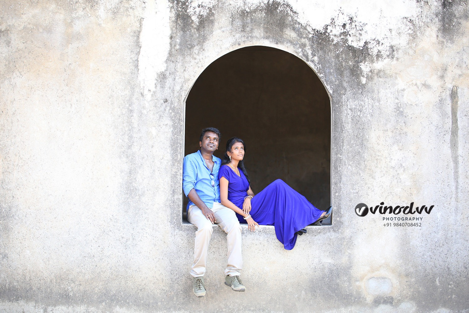A regal couple in blue on their pre-wedding shoot! by Vinod VV Photography Wedding-photography | Weddings Photos & Ideas