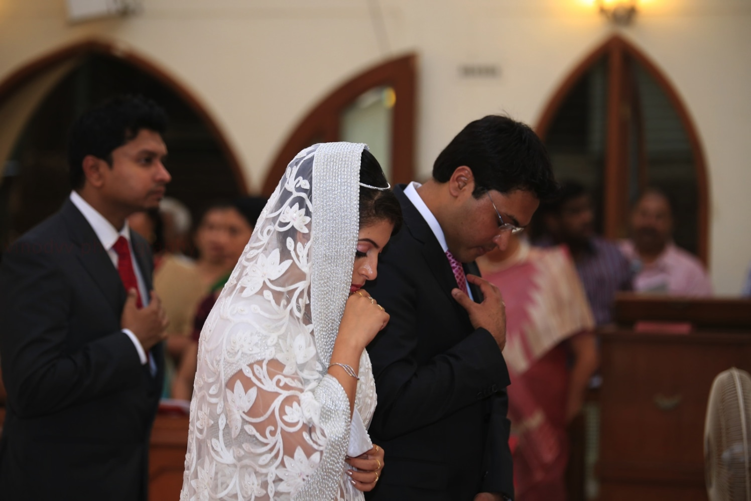 A radiant christian bride walking down the aisle! by Vinod VV Photography Wedding-photography | Weddings Photos & Ideas