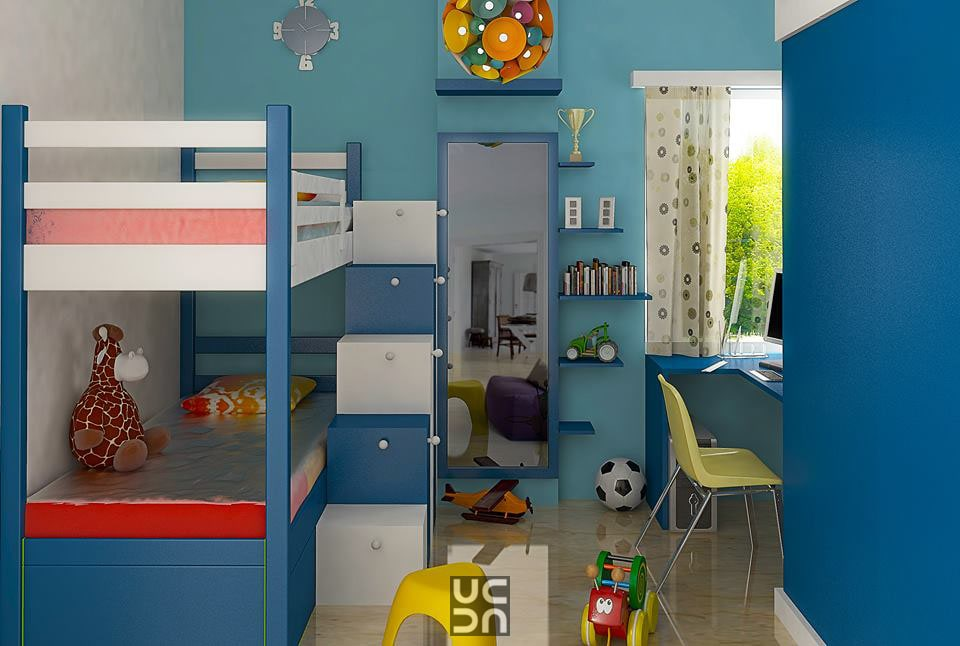 The blue kids bedroom by Bote Traditional | Interior Design Photos & Ideas