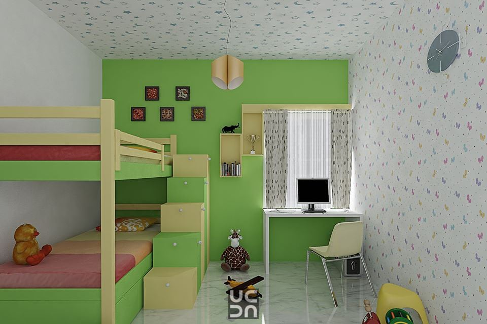 Green room by Bote Bedroom Traditional | Interior Design Photos & Ideas