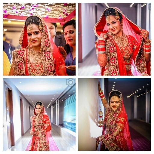 A beautiful bride wearing red lehenga! by Krish Photography Wedding-photography | Weddings Photos & Ideas