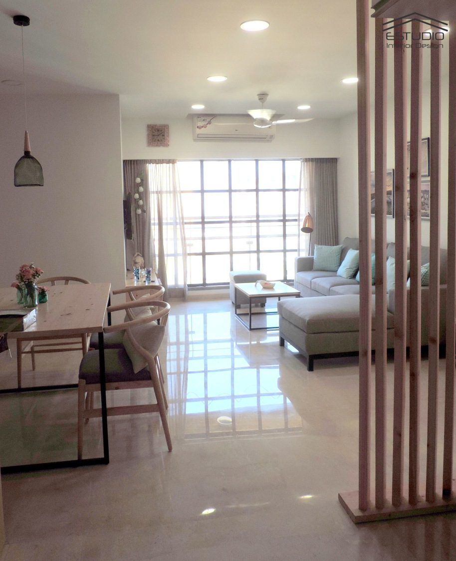 The peaceful living room by E- Studio Living-room Traditional | Interior Design Photos & Ideas
