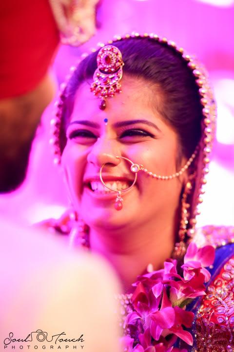 Ravishing bride wearing gleaming nose ring by Ashutosh Wedding-photography | Weddings Photos & Ideas