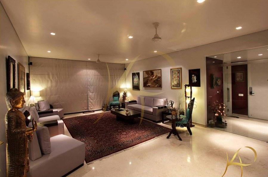Where Peace Surrounds You by KP Interior Living-room Contemporary | Interior Design Photos & Ideas