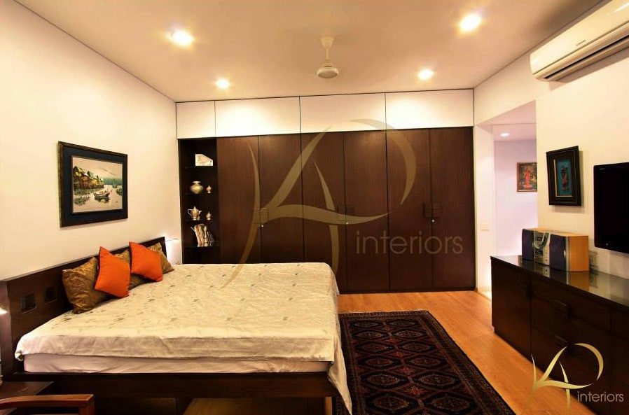 Spacious Bedroom  With Wardrobe by KP Interior Bedroom Contemporary | Interior Design Photos & Ideas