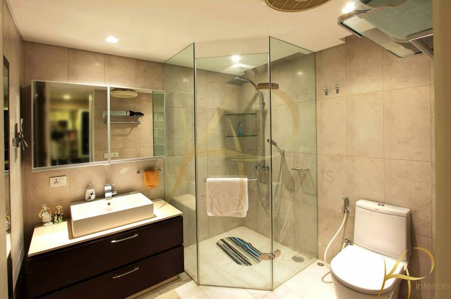Bathroom With Glass Shower Enclosures by KP Interior Bathroom Contemporary | Interior Design Photos & Ideas