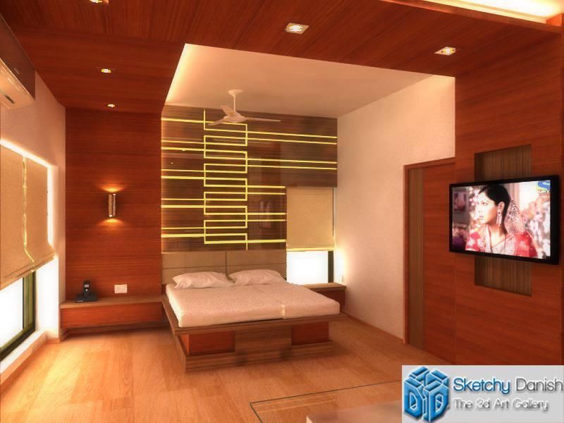 Modern wooden floored Master bedroom by Sketchy Danish Bedroom Modern | Interior Design Photos & Ideas