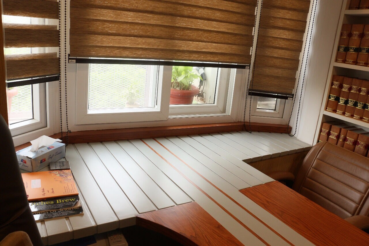 Office cabin with wooden furniture by CE Architects Traditional   Interior Design Photos & Ideas