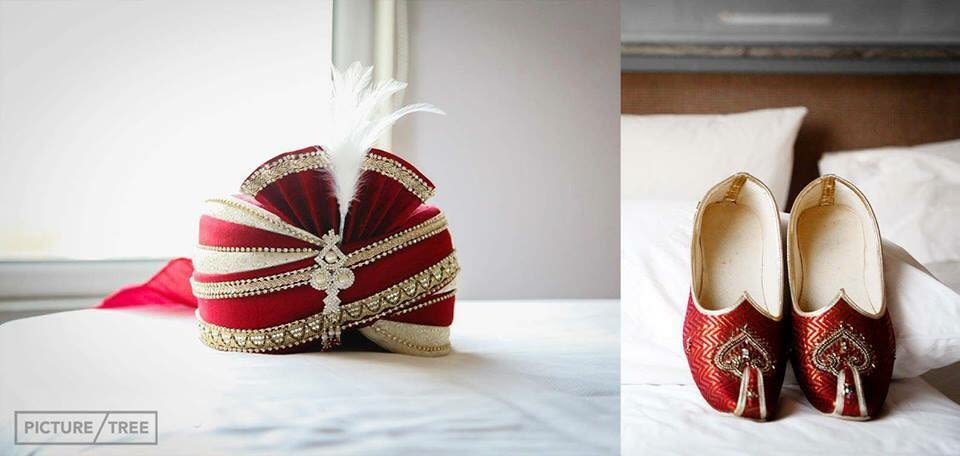 the grooms matching red wedding accessories by PictureTree Wedding-photography | Weddings Photos & Ideas