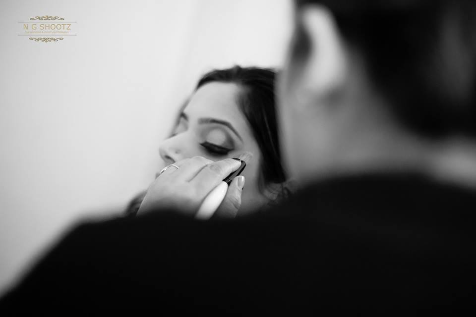 Touch up for the big day by NG Shootz Wedding-photography | Weddings Photos & Ideas