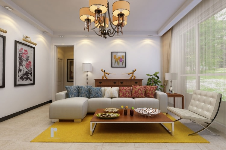 Contemporary living room with marble flooring by Render Image Living-room Contemporary | Interior Design Photos & Ideas