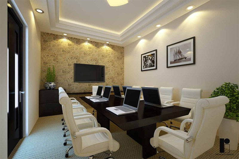 3D design of a modern conference room by Render Image Modern | Interior Design Photos & Ideas