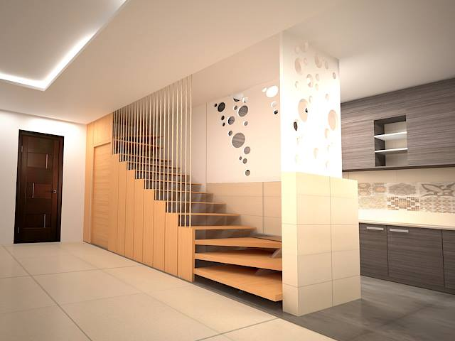 Staircase area for a lavish residence by Real Paradise Group Indoor-spaces Contemporary | Interior Design Photos & Ideas