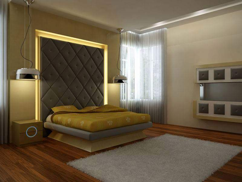 3D design for a master bedroom by Real Paradise Group Bedroom Contemporary | Interior Design Photos & Ideas