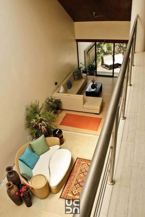 Gorgeous living room area from a top view by Amrita Rajput Living-room Contemporary | Interior Design Photos & Ideas