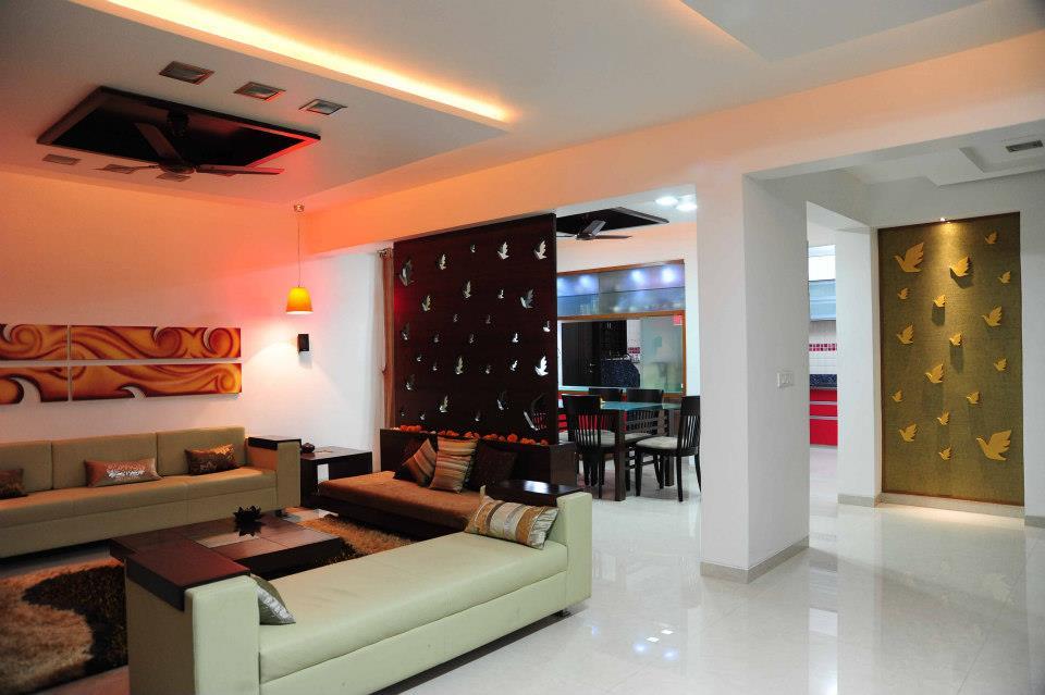 Exuberant design for living room interior by Amrita Rajput Living-room Contemporary | Interior Design Photos & Ideas