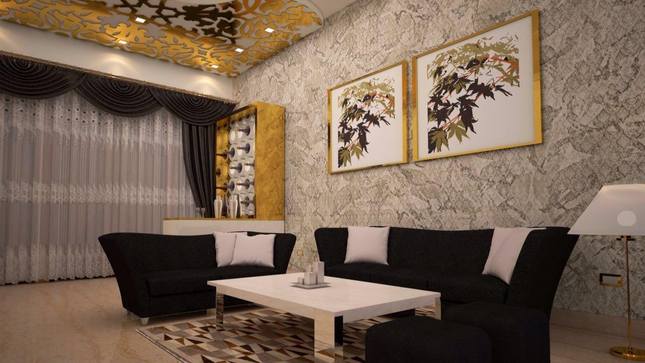 Contemporary designed living room by Amrita Rajput Living-room Contemporary | Interior Design Photos & Ideas