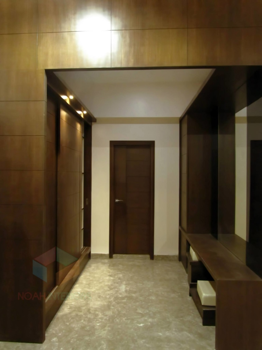 Contemporary marble floored hallway by Noah Interiors  Indoor-spaces Contemporary | Interior Design Photos & Ideas