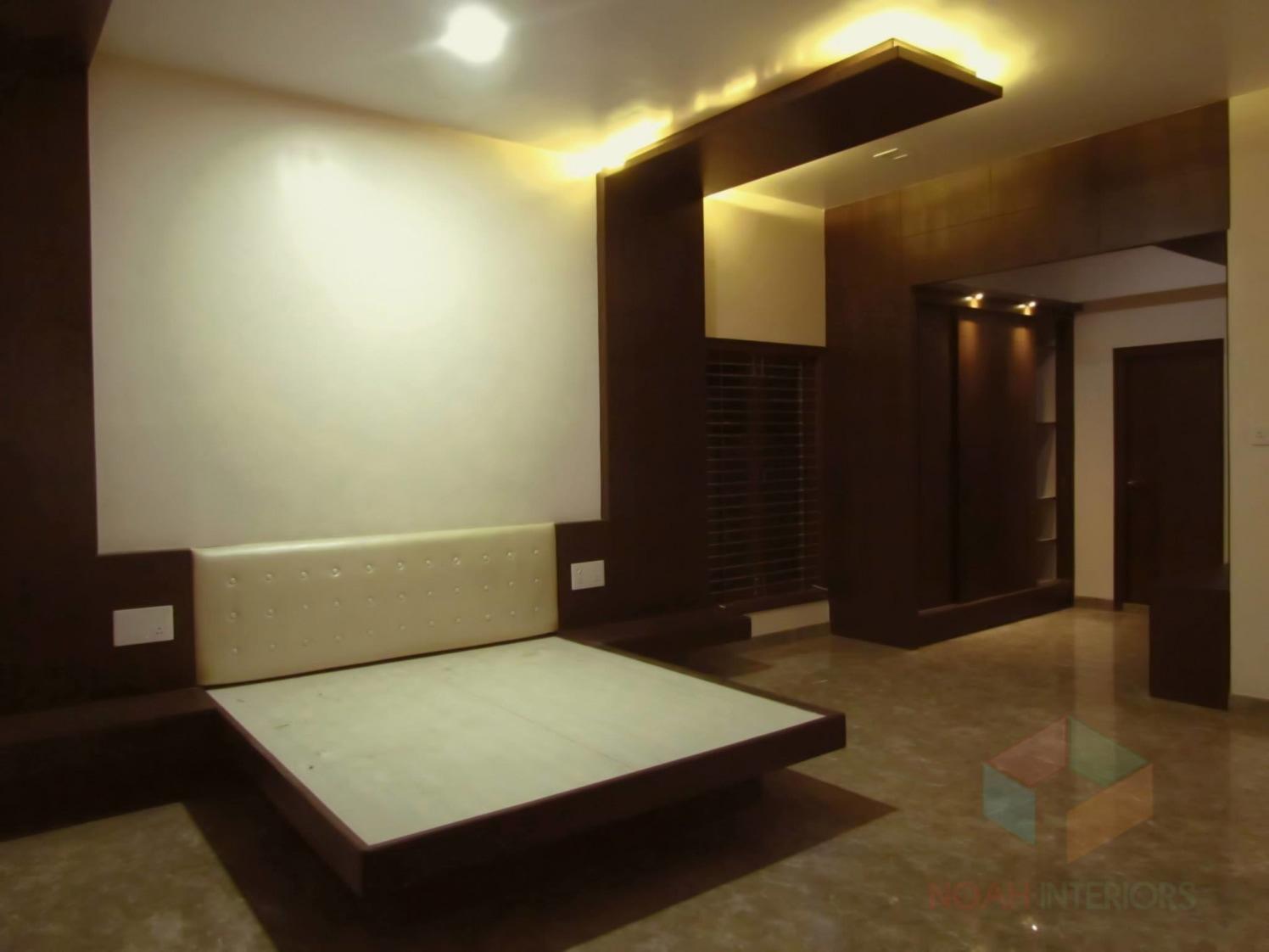 Bedroom with marble flooring by Noah Interiors  Bedroom Modern | Interior Design Photos & Ideas