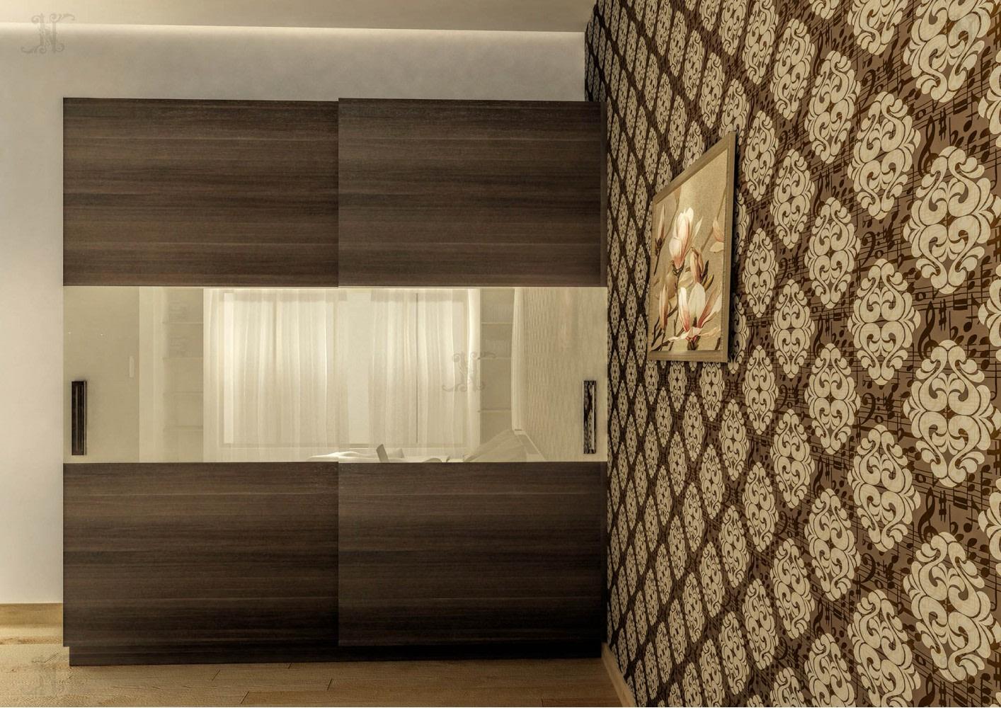 3D design of wardrobe in bedroom by Noah Interiors  Bedroom Modern | Interior Design Photos & Ideas