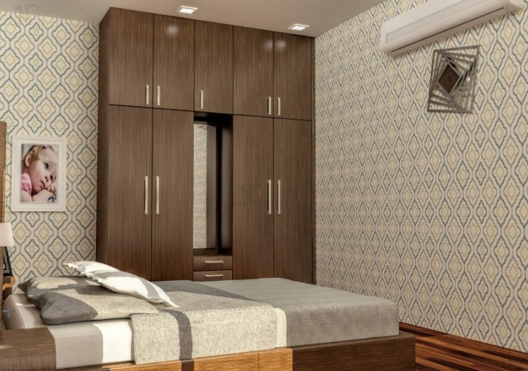 3D design of wardrobe in bedroom by Noah Interiors  Bedroom Contemporary | Interior Design Photos & Ideas