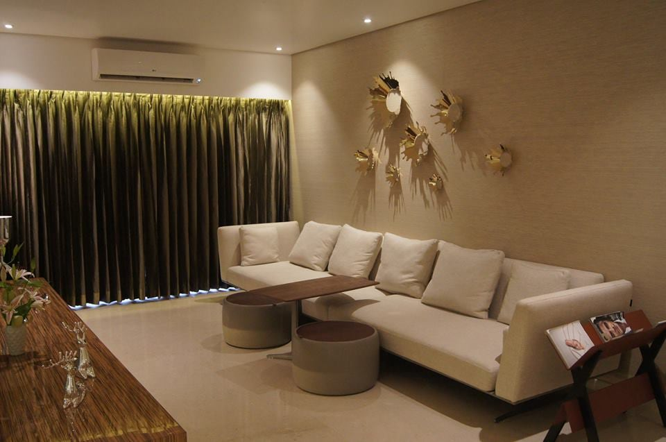 Contemporary Living Room. by Acmeview Interior Solutions Pvt. Ltd. Living-room Contemporary | Interior Design Photos & Ideas
