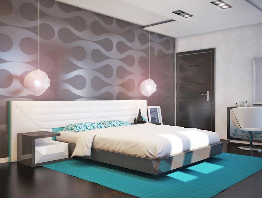 3D Design For A Luxurious Master Bedroom With Contemporary Wallpaper by Fantini Designs Pvt Ltd  Bedroom Contemporary | Interior Design Photos & Ideas