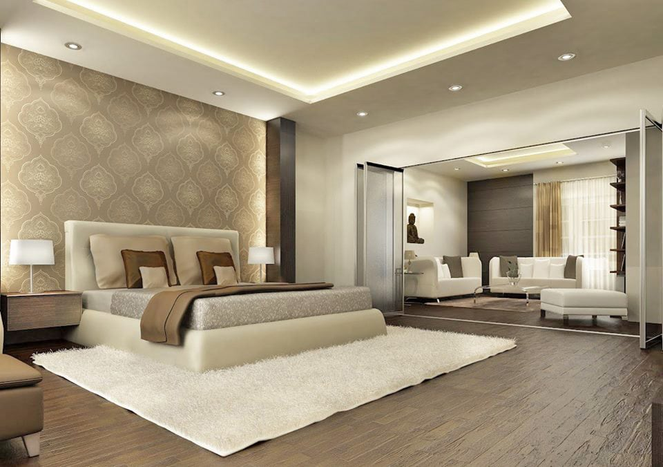 3D Design Master Bedroom With Bulky Furniture by Fantini Designs Pvt Ltd  Bedroom Contemporary | Interior Design Photos & Ideas