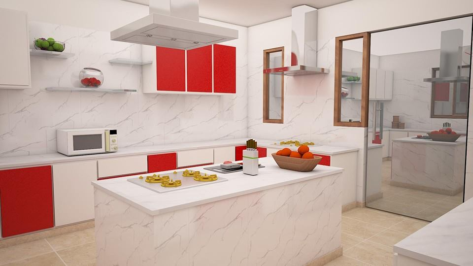 Vibrant modular kitchen design by Supertech Enterprises Modular-kitchen Modern | Interior Design Photos & Ideas