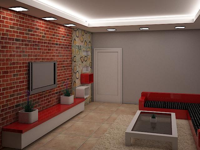 Opulent design for contemporary living room by Supertech Enterprises Living-room Contemporary | Interior Design Photos & Ideas