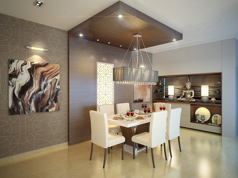 Modern dining room with marble living by Five Elements Dining-room Modern | Interior Design Photos & Ideas