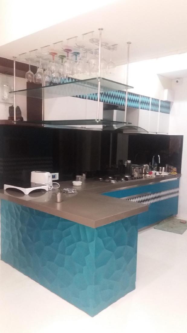 L shaped modular kitchen by Five Elements Modular-kitchen Contemporary | Interior Design Photos & Ideas