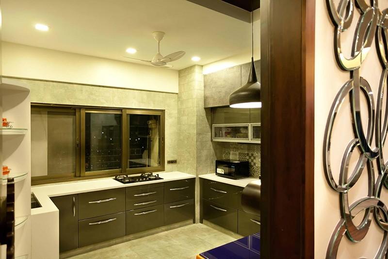 L shaped modular modern kitchen by Five Elements Modular-kitchen Modern | Interior Design Photos & Ideas