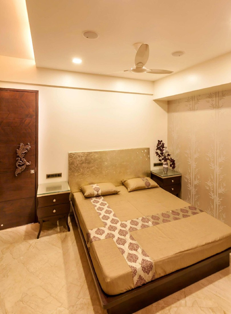 Modern bedroom with marble flooring by Five Elements Bedroom Modern | Interior Design Photos & Ideas