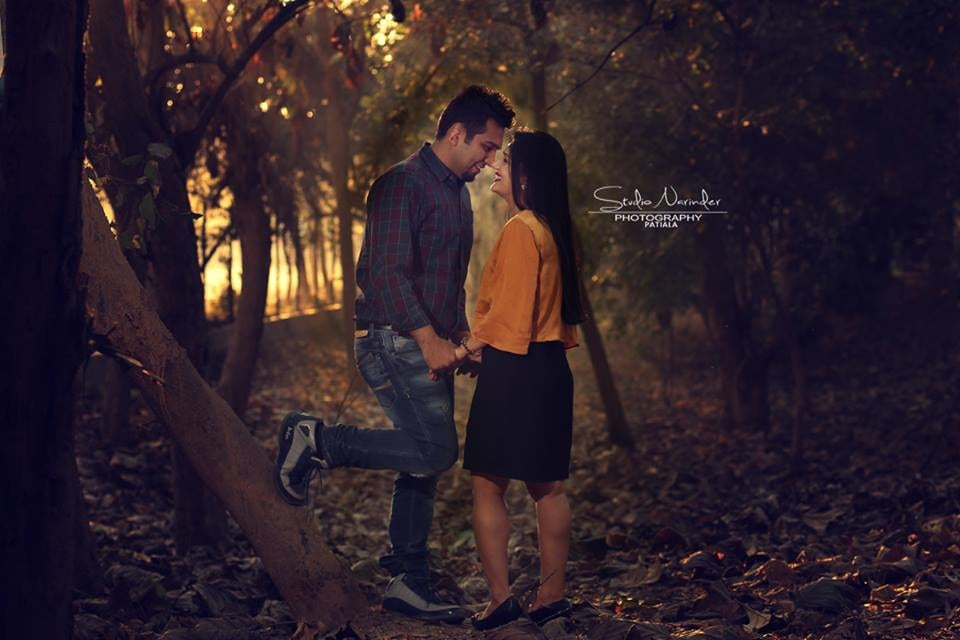 A Romantic Pre Wedding Shoot In The Woods During Sunset by Sourab Sharma Wedding-photography | Weddings Photos & Ideas