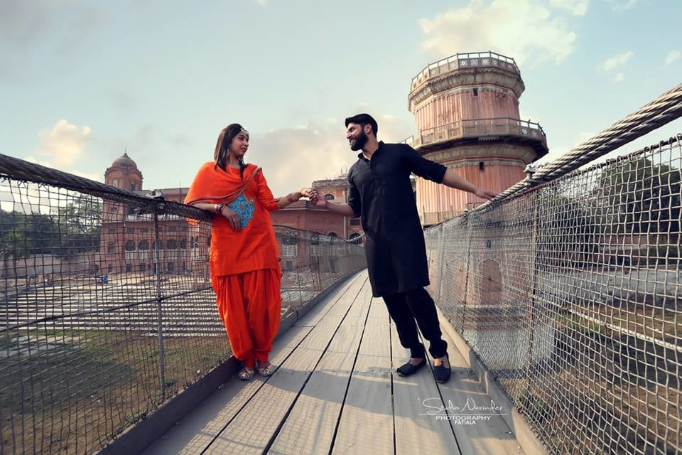 Orange Patiala Salwar And Kurta And Black Kurta Pajama For A Typical Punjabi Bridegroom-To-Be by Sourab Sharma Wedding-photography | Weddings Photos & Ideas
