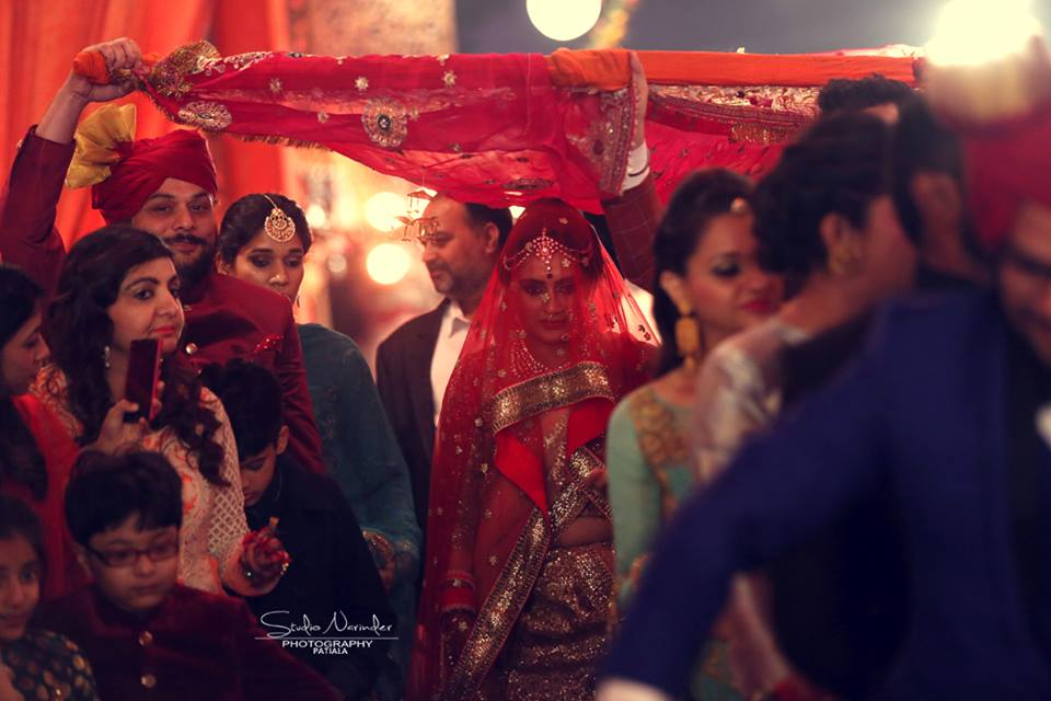 Gorgeous Bride In Her Conventional Wedding Attire Walking Down The Aisle by Sourab Sharma Wedding-photography | Weddings Photos & Ideas