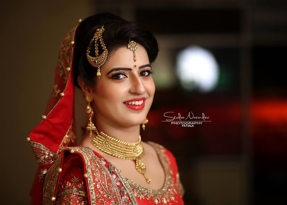 Light And Natural Bridal Makeup With Bold Lips For A Flawless Bridal Look by Sourab Sharma Wedding-photography | Weddings Photos & Ideas
