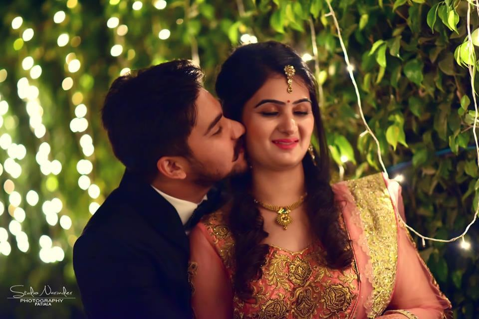 A Romantic Engagement Shoot Withb Stellar Lights In Background by Sourab Sharma Wedding-photography | Weddings Photos & Ideas