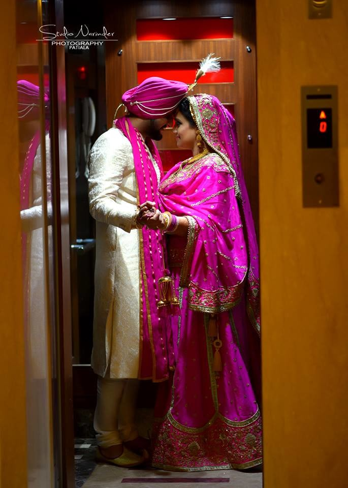 Romantic Wedding Shoot In Conventional Punjabi Wedding Attire by Sourab Sharma Wedding-photography | Weddings Photos & Ideas