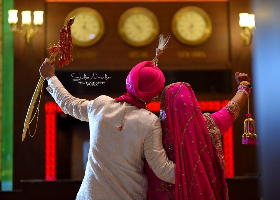 Back Shot Of Sikh Bridegroom Striking A Pose For Wedding Shoot by Sourab Sharma Wedding-photography | Weddings Photos & Ideas