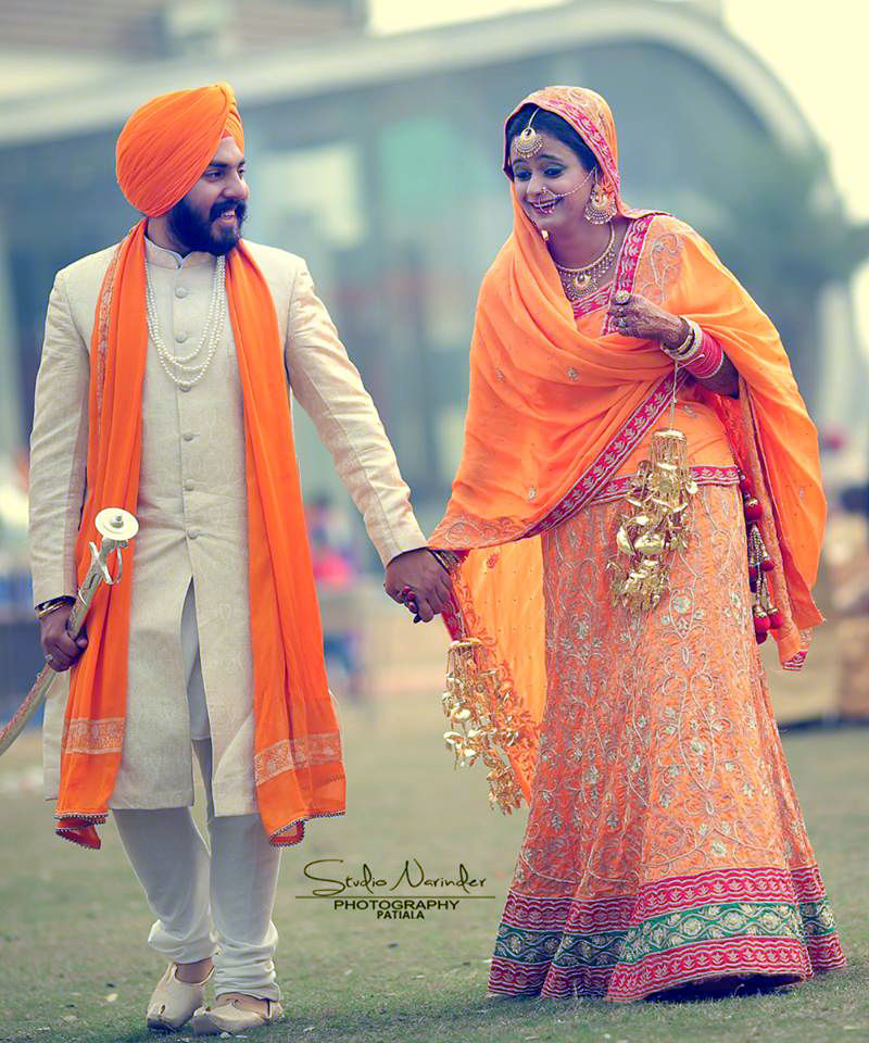White High Collared Sherwani And Choodidar With Saffron Turban And Stole by Sourab Sharma Wedding-photography Groom-wear-and-accessories   Weddings Photos & Ideas