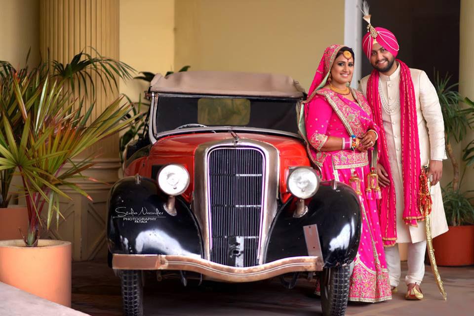 Royal Sikh Wedding Shoot With A Vintage Car by Sourab Sharma Wedding-photography | Weddings Photos & Ideas