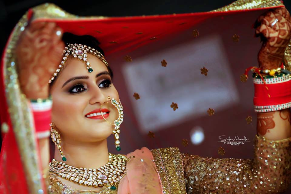 Light And Natural Bridal Makeup With Bold Lips For A Splendid Bridal Look by Sourab Sharma Wedding-photography | Weddings Photos & Ideas
